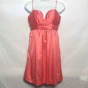 BCBGeneration Coral/Blush Halter Dress Size 4